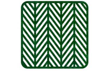 Pan coaster herringbone design - Felt green