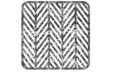 Pan coaster herringbone design - Felt grey