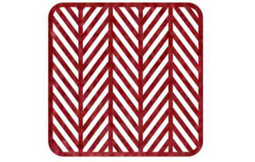Pan coaster herringbone design - Felt red