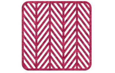Pan coaster herringbone design - Felt pink