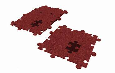 Pan coaster puzzle design - Felt red
