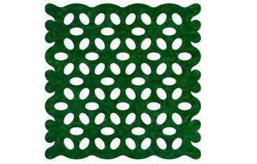 Pan coaster with lace pattern - Felt green
