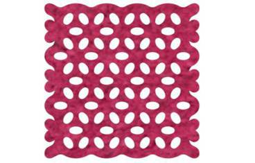 Pan coaster with lace pattern - Felt pink