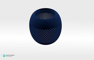 Parametric perforated bowl - Plastic matte blue