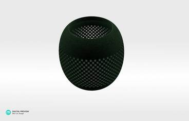 Parametric perforated bowl - Plastic matte green