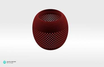 Parametric perforated bowl - Plastic matte red