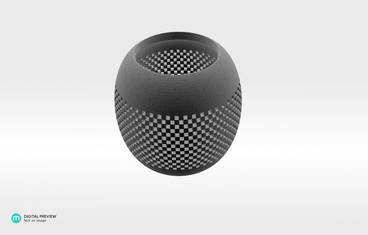 Parametric perforated bowl - Plastic matte white
