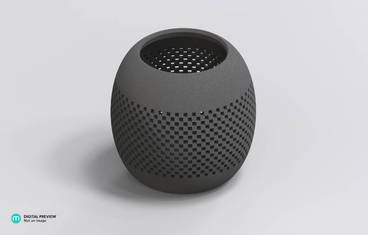 Parametric perforated bowl