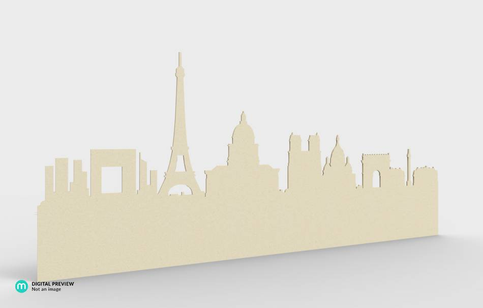 Paris skyline wall deco