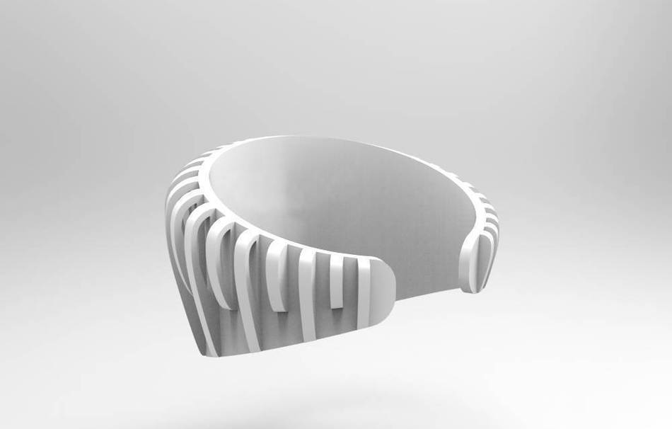 Plastic matte white                                                Bracelets Jewelry 3D printed