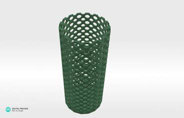 Perforated vase - Plastic matte green