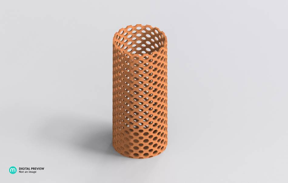 Vase perforated design
