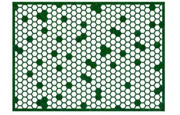Placemat honeycomb design - Felt green