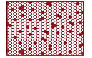 Placemat honeycomb design - Felt red