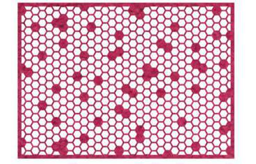 Placemat honeycomb design - Felt pink