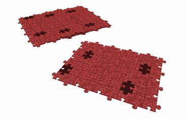 Placemat puzzle design - Felt red