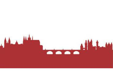 Prague skyline wall deco - Acrylic glass 3mm red