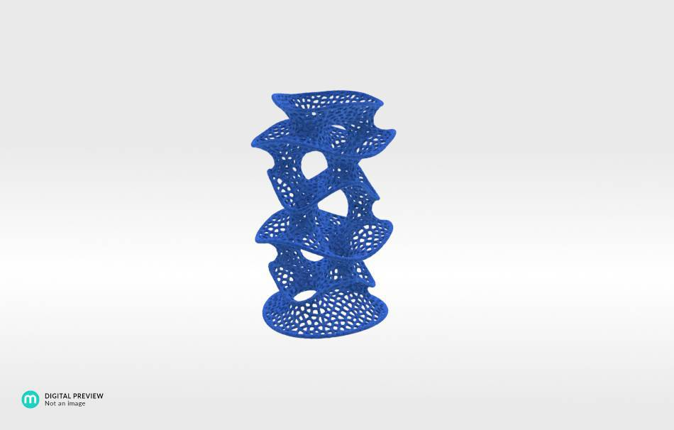 Plastic matte blue                                                Decoration competition | winning designs Top designs Organizers Organizers Decoration Decoration Home Office 3D printed