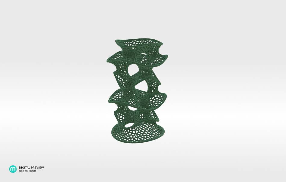 Plastic matte green                                                Decoration competition | winning designs Top designs Organizers Organizers Decoration Decoration Home Office 3D printed
