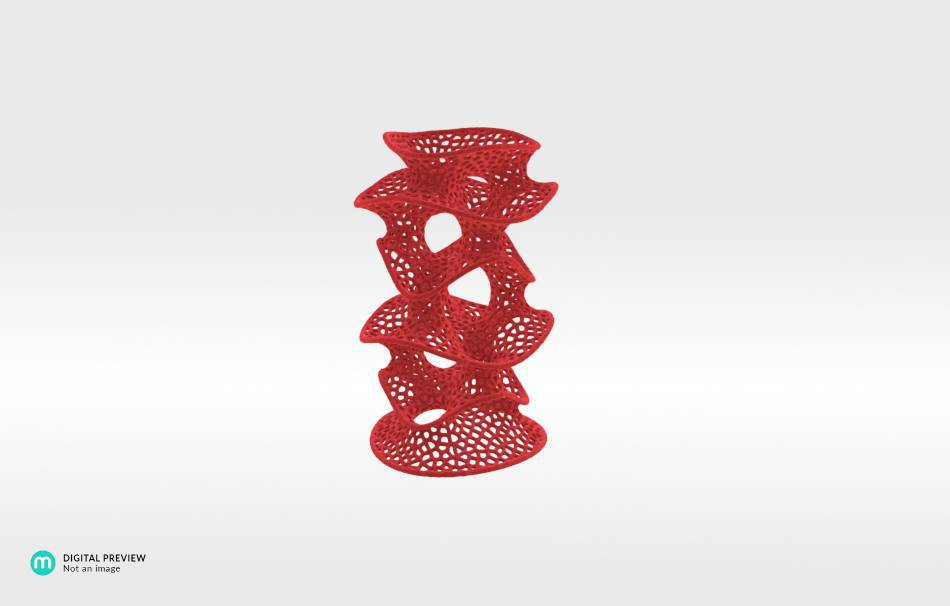 Plastic matte red                                                Decoration competition | winning designs Top designs Organizers Organizers Decoration Decoration Home Office 3D printed