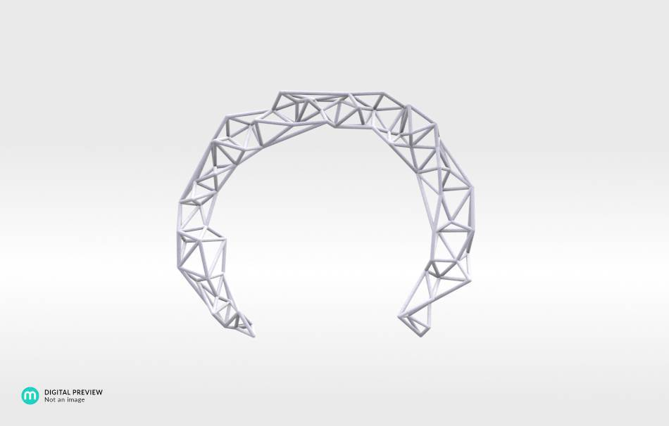 Plastic matte white                                                Necklaces Jewelry competition | winning designs Top designs Jewelry 3D printed