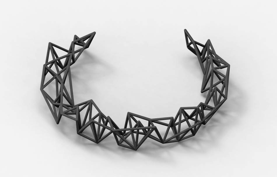 Plastic matte black                                                Jewelry competition | winning designs Top designs Necklaces Jewelry 3D printed