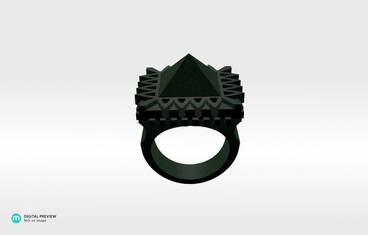Pyramid Ring - Plastic matte green