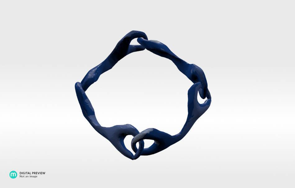 Resin blue                                                Bracelets Jewelry 3D printed