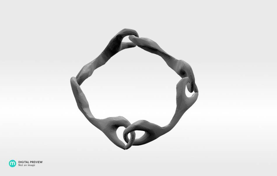 Resin white                                                Bracelets Jewelry 3D printed