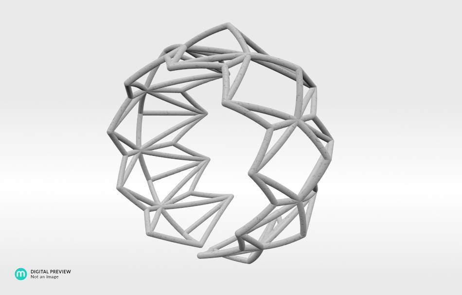 Plastic matte white                                                Jewelry competition | winning designs Top designs Bracelets Jewelry 3D printed