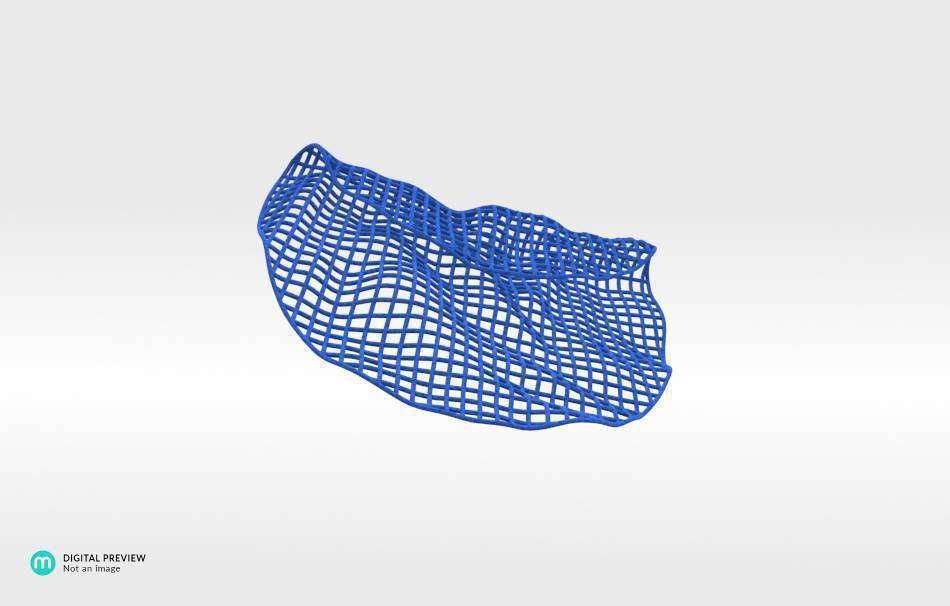 Plastic matte blue                                                Jewelry competition | winning designs Top designs Jewelry Pendants 3D printed