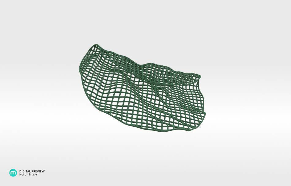 Plastic matte green                                                Jewelry competition | winning designs Top designs Jewelry Pendants 3D printed