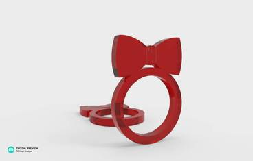 Ring with bow tie
