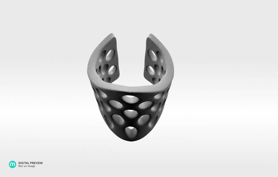 Plastic matte white                                                Jewelry Rings 3D printed