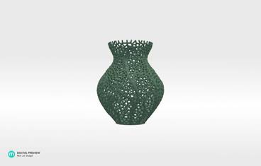 Secession decor vase - Sandstone green