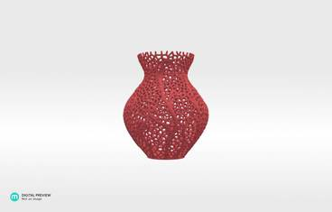 Secession decor vase - Sandstone red