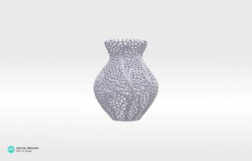 Secession decor vase - Sandstone white