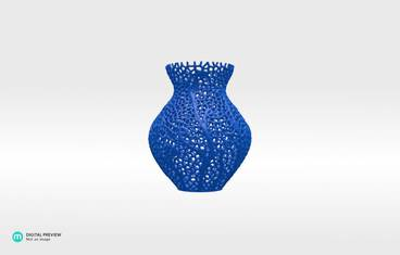 Secession decor vase - Resin blue