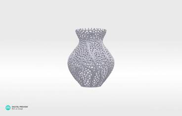 Secession decor vase - Resin white