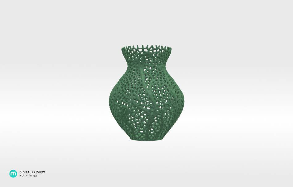 Plastic matte green                                                Decoration competition | winning designs Top designs Decoration Decoration Home Office 3D printed