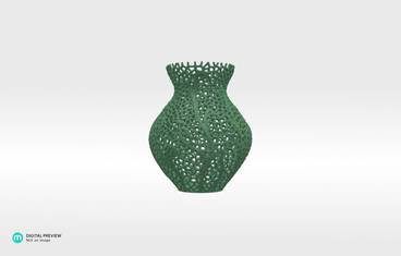 Secession decor vase - Plastic matte green