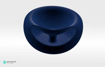 Seeds bowl - Plastic matte blue