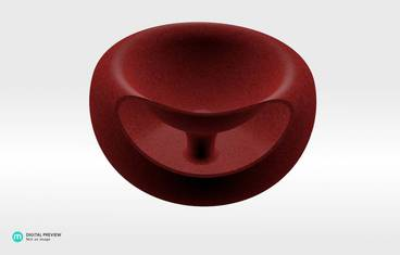 Seeds bowl - Plastic matte red