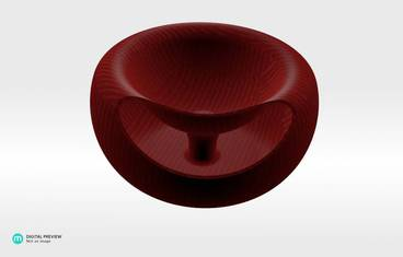 Seeds bowl - Organic plastic red