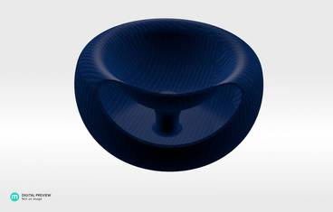 Seeds bowl - Plastic shiny & sturdy blue
