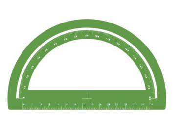 Simple goniometer - Acrylic glass 3mm green