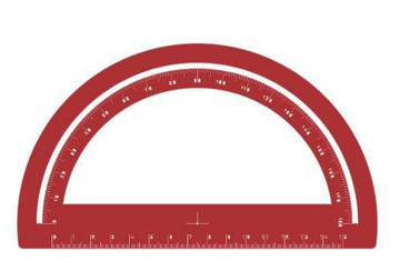 Simple goniometer - Acrylic glass 3mm red