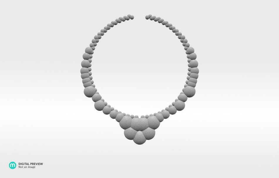 Plastic matte white                                                Necklaces Jewelry 3D printed