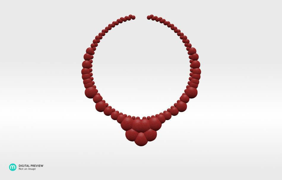 Plastic matte red                                                Necklaces Jewelry 3D printed