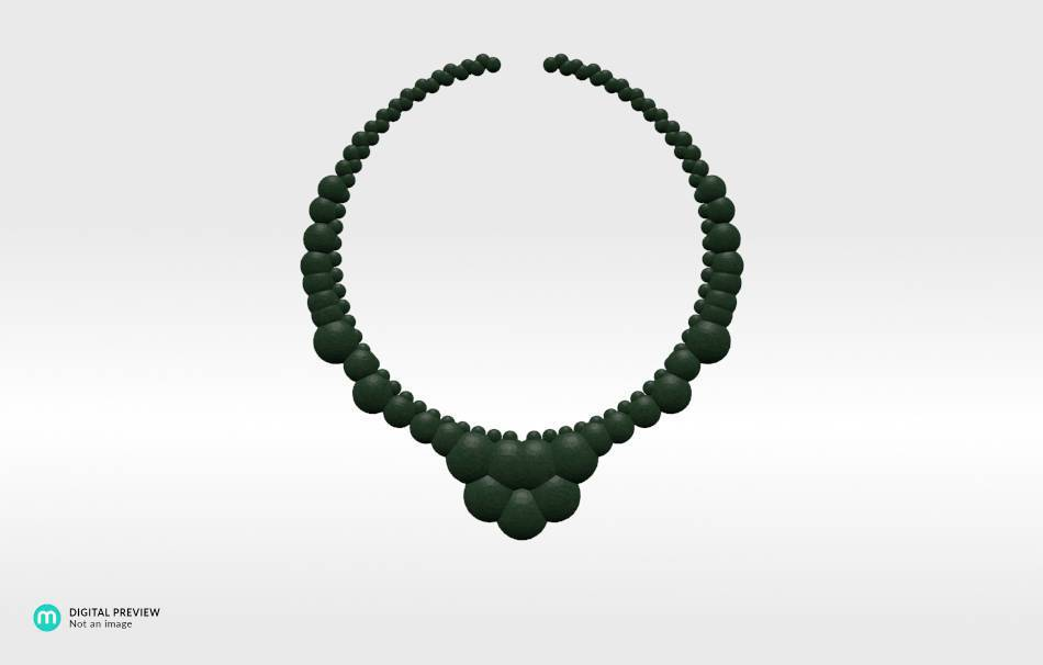 Plastic matte green                                                Necklaces Jewelry 3D printed